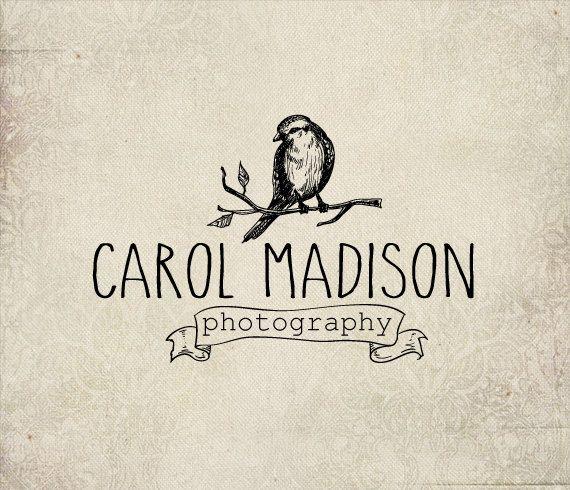 Photography Bird logo - Eps and Png file watermark - Premade custom logo - Logo for photographers