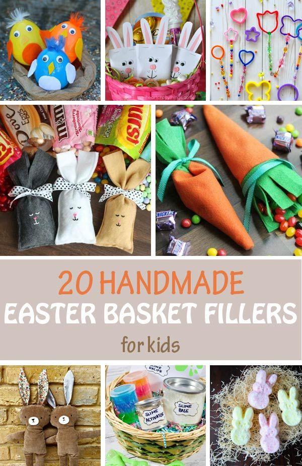 20 Diy Easter Basket Fillers For Kids Handmade Basket Ideas Creative Easter Baskets Easter Basket Diy Diy Easter Gifts