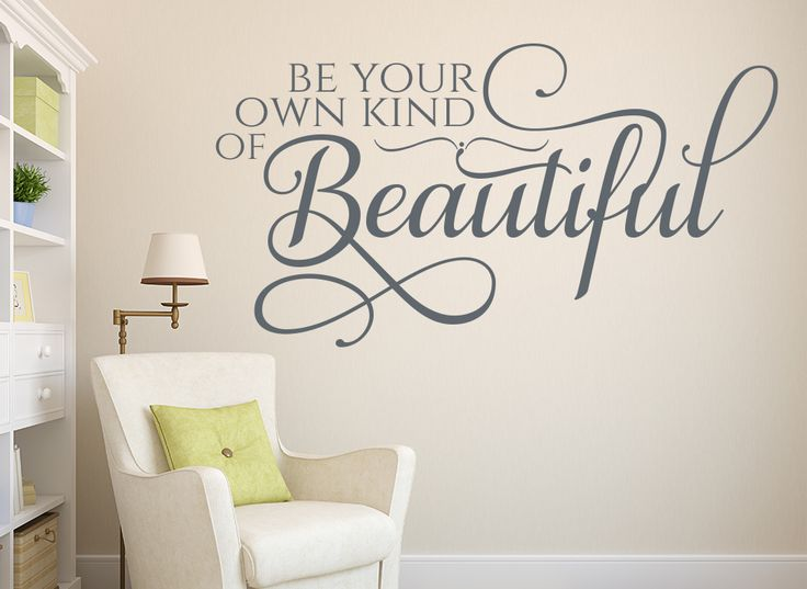Be Your Own Kind Of Beautiful Wall Art 79 best quote wall art sticker for your home from smarty walls