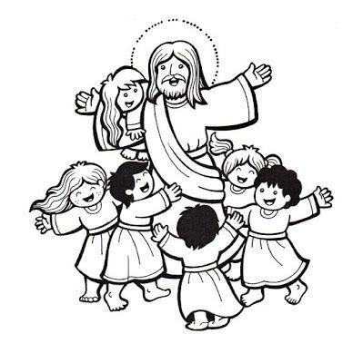 Resultado de imagen para jesus amigo de los niños dibujo para ...