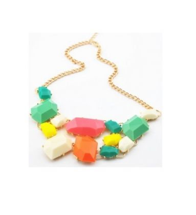 Omega Deals,neon ketting,trendy ketting,multicolor necklace,