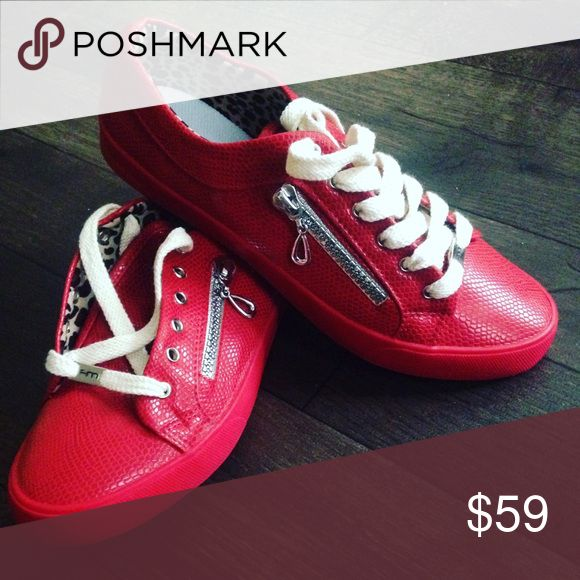 Red Love Sneakers Fashion sneakers soplayshoes Shoes Sneakers