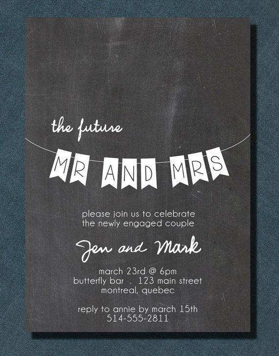 DIY Printable Wedding Engagement Chalkboard Banner by PaperCandyCa, $18.00