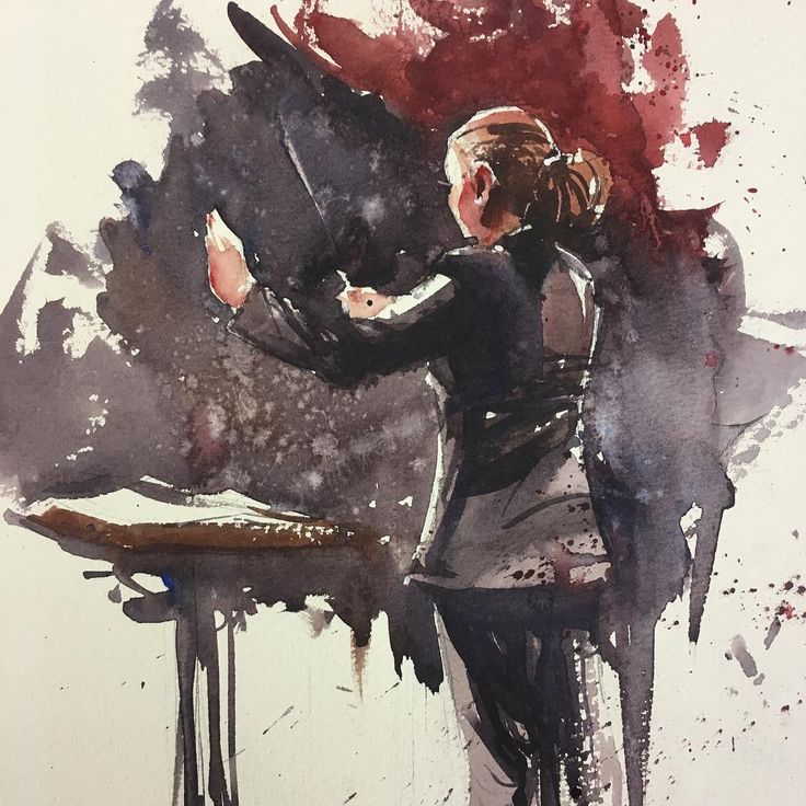 """2,382 mentions J'aime, 9 commentaires - Judd Mercer (@juddmercer_art) sur Instagram : """"""""First Movement."""" Another #conductor sketch. We recently went to the awesome @officialzeldasymphony…"""""""