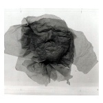 Adriena Šimotová - Hlava - popel (Head - ash), 1984, paper, City Gallery of Prague, technika muchláž
