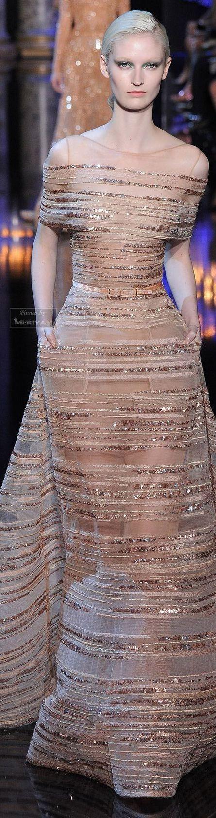 FashionDresses | Rosamaria G Frangini || Elie Saab Fall 2014-2015 Couture blush…
