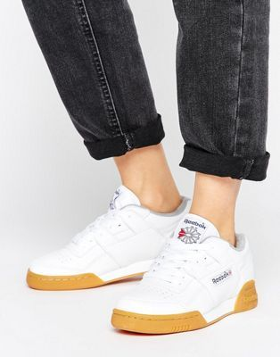 Reebok Workout Plus Sneakers With Gum Sole