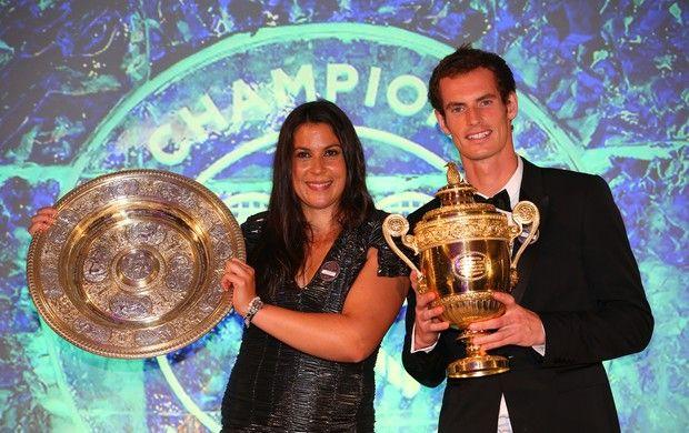 Marion Bartoli Andy Murray Wimbledon tênis (Foto: Getty Images)
