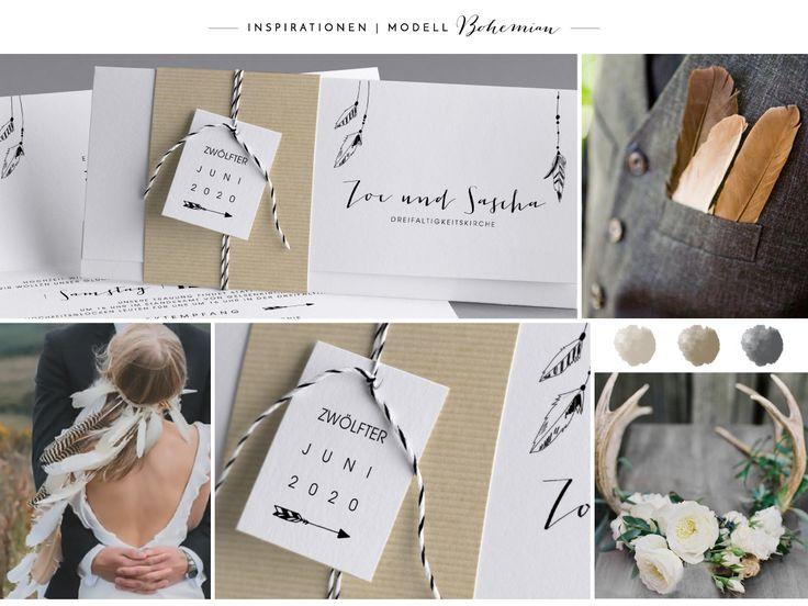Hipster #InspirationHochzeit #Hochzeitskarten #kreativehochzeitskarten #einladungskarten Bohemian M36-035