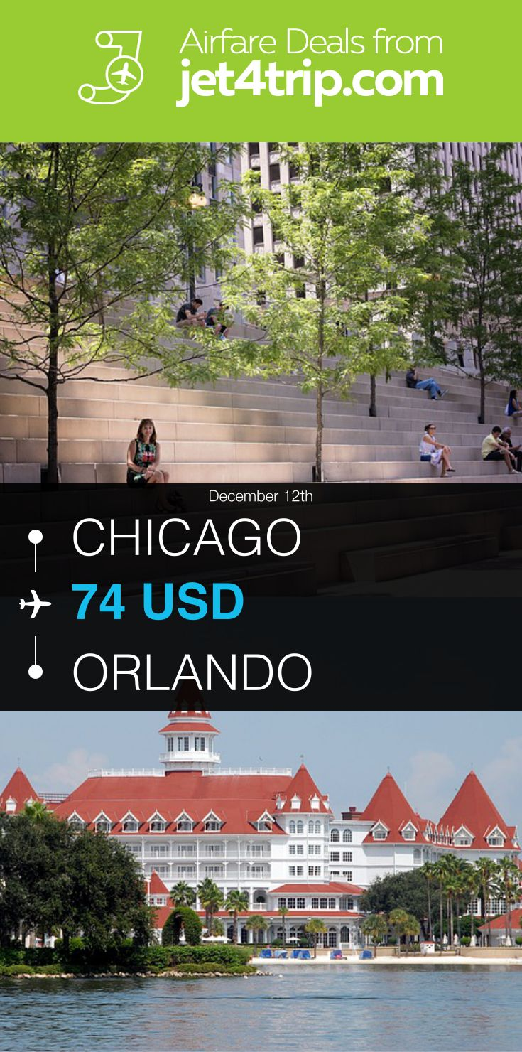 Flight from Chicago to Orlando for $74 by United Airlines #travel #ticket #deals #flight #CHI #ORL #Chicago #Orlando #UA #United Airlines
