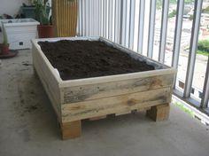 Jardinière à partir de palettes de bois.