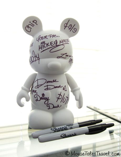 "How about a 9"" Vinylmation for your autograph book instead of a, well... book?"