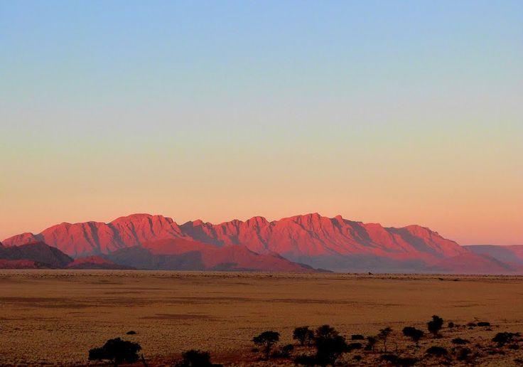 Desert mountains at sunset, Sesriem, Namibia