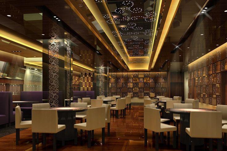 small restaurant european contempoary decor | 3d ...