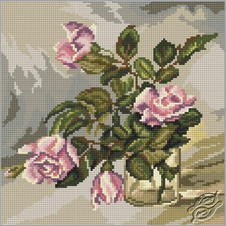Watercolor Roses - Cross Stitch Kits by RTO - M285