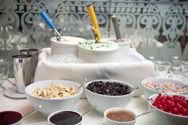 Wedding Dessert Station - Ice Cream Bar