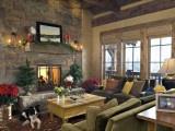 Comfy Christmas #Christmas: Stones Fireplaces, Ideas, Living Rooms, Livingroom, Dreams House, Christmas Decor, Families Room, Design, Christmas Mantels