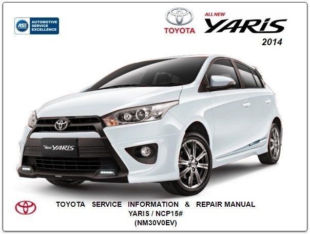 toyota yaris 2012 service manual pdf