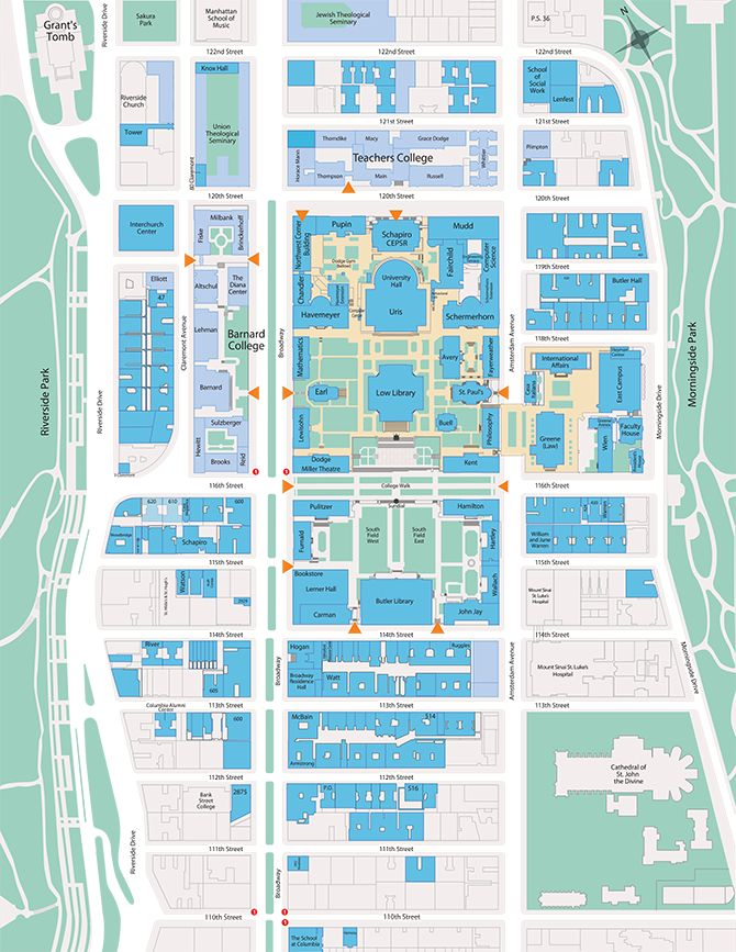Northern Kentucky University Campus Map.View A Map Of Columbia Law School And The Surrounding Columbia