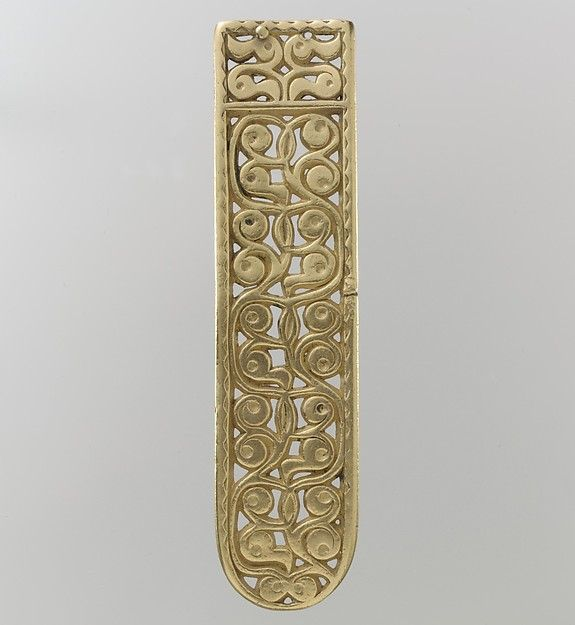 Gold Belt End  Date:700s Culture:Avar Medium:Gold-The treasure contains an array…