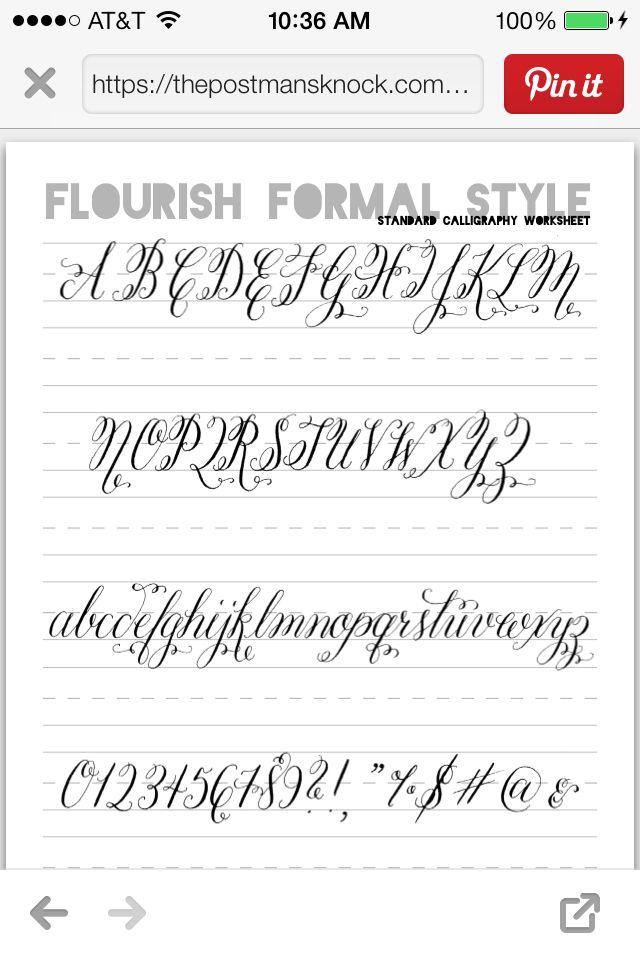Postman s knock calligraphy worksheet hand lettering