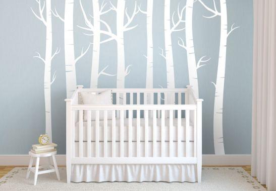 Hochwertiges Wandtattoo Wald Set von K&L Wall Art - Stellen Sie sich Ihren eigenen Wald zusammen! | wall-art.de Online Shop