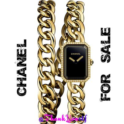 Order it now from this link http://liketk.it/2pGuO  CHANEL H3750 Première Double Row Chain 18-carat gold and diamond watch #chanelpreorder #chanelpreowned #chanelwatches #chanel #premiere #gold #chanelwatch #blackfriday2016