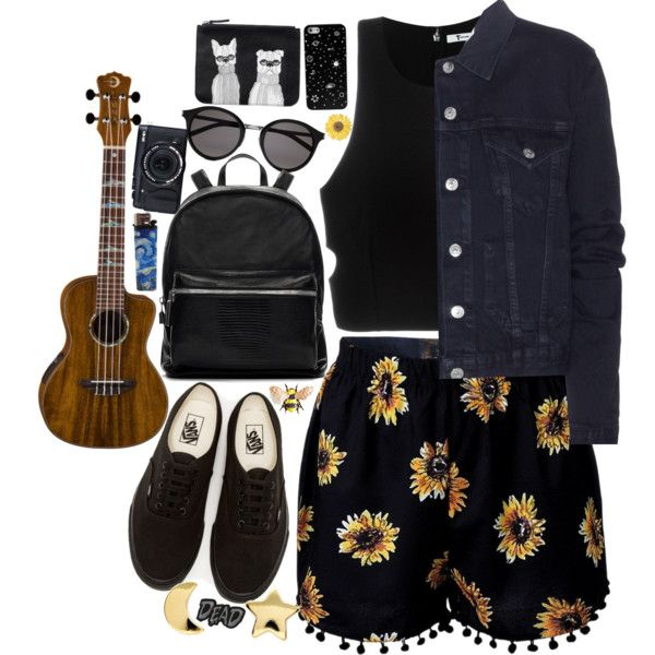 for the days you want to be a ray of sunshine but still keep your aesthetic by starscounter394 on Polyvore featuring T By Alexander Wang, Acne Studios, Vans, Elizabeth and James, Monki, Erica Weiner, NOVICA, Yves Saint Laurent, StreetStyle and indie