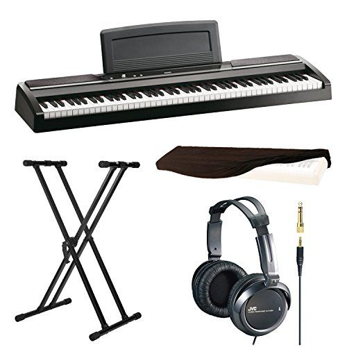 Korg SP170s 88-Key Digital Piano, Black with X-Style Keyboard Stand, Stereo Headphones and 88 Key Piano Dust Cover  http://www.instrumentssale.com/korg-sp170s-88-key-digital-piano-black-with-x-style-keyboard-stand-stereo-headphones-and-88-key-piano-dust-cover/ Read Review here whatdigitalpiano.com
