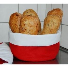 The bread basket that keeps the bread warm. Varmt, gott och doftande bröd genom hela måltiden är en lyx man gärna vill unna sig! Den här brödkorgen eller brödpåsen med (lösliggande) vetevärmare i botten är svartet på dina drömmar. Vetevärmaren värms i mikrovågsugn eller vanlig ugn och placeras i botten på korgen för att hålla det nybakade brödet varmt. Passar perfekt till exempelvis rostat bröd, scones, nybakat bröd av alla slag, ägg, tacos eller bröd. http://www.smartasaker.se/brodkorg.html