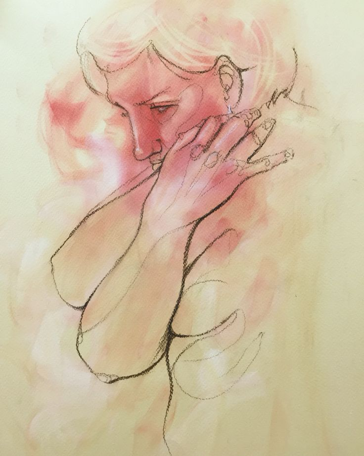 Sinead Lawless - #lifedrawing #sketch #pasteldrawing #figurative