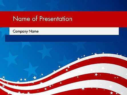 Bright festive template which is dedicated to patriotic theme of fourth of July. Use it for various presentations on american national festivals and holidays.