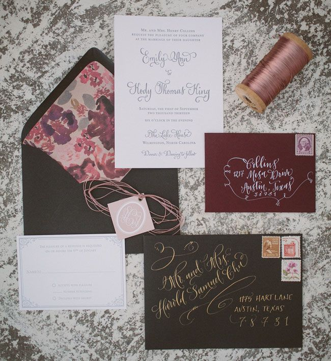 That envelope address. Gorgeous. - Romantic Southwestern Boho Wedding Inspiration on Green Wedding Shoes