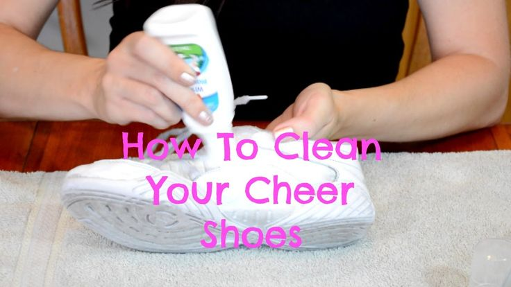 DIY:  How To Clean Cheer Shoes and Make them Look White Again!