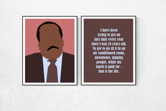 Stanley Hudson Jury Duty Quote The Office Tv Show Printable Etsy Office Quotes Office Tv The Office