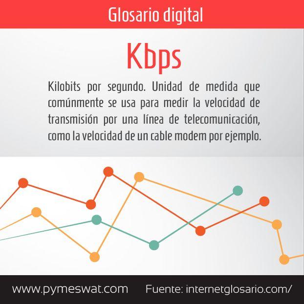 #GolsarioDigital #Kbps Kilobits por segundo. Unidad de medida que comúnmente se usa para medir la velocidad de #transmisión