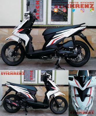 Honda Beat ESP White - Custom Branding Sticker (Part.2) #hondamotor #hondabeat #beat #matic #scooter #scootermatic