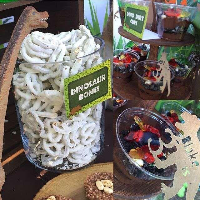 Pretzel Bones At A Dinosaur Birthday Party! See More Party