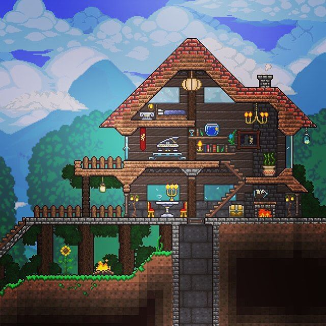 35 best terraria house ideas images on pinterest for Best house designs terraria