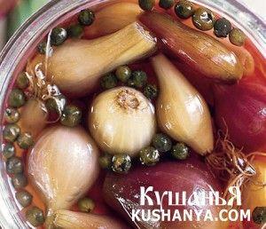 Красный и белый маринованный лук | Kushanya.Com