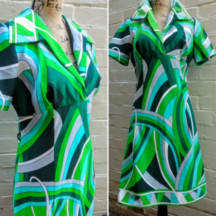1960's psychedelic dress by recycology on Etsy