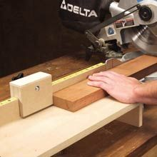 Adjustable Miter-Saw Stop - Woodworking Shop - American Woodworker