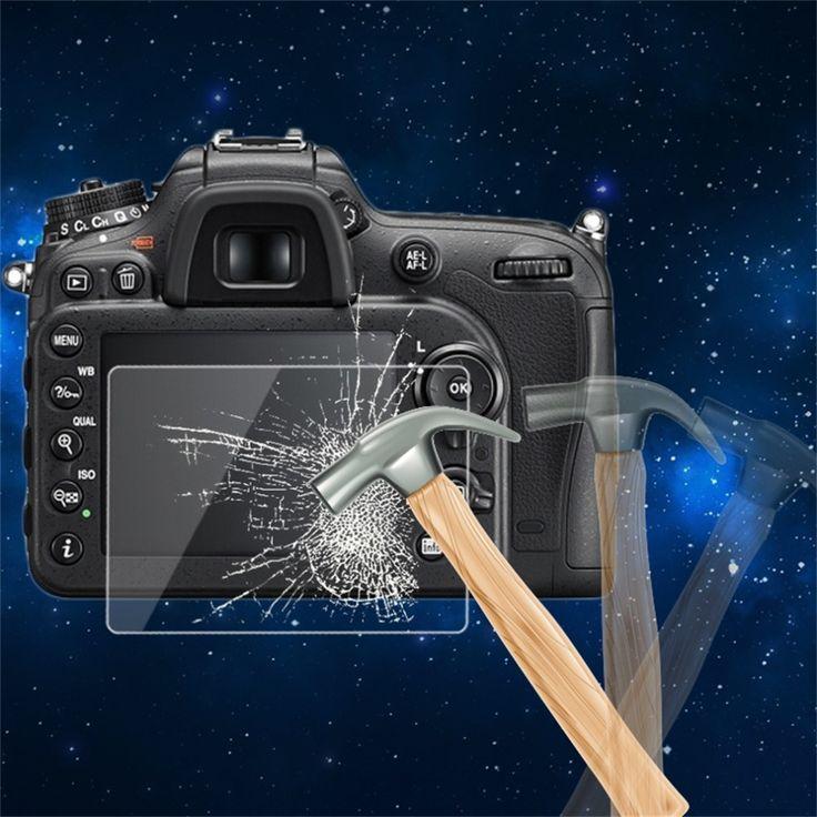 0.5mm de la cámara panel de la pantalla lcd hd protector de la película de vidrio templado protector de la cubierta impermeable para la cámara de nikon d7200 al por mayor