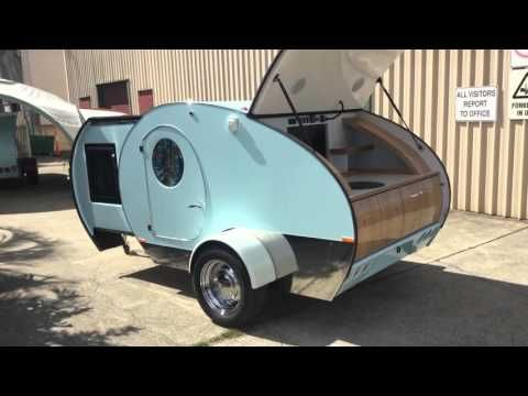 Gidget Retro Teardrop Camper, Bondi Model, A Degree View Around The Camper  Closed, Open And Extended And A Special Tour Of The Bondi Kitchen Featuring  O.