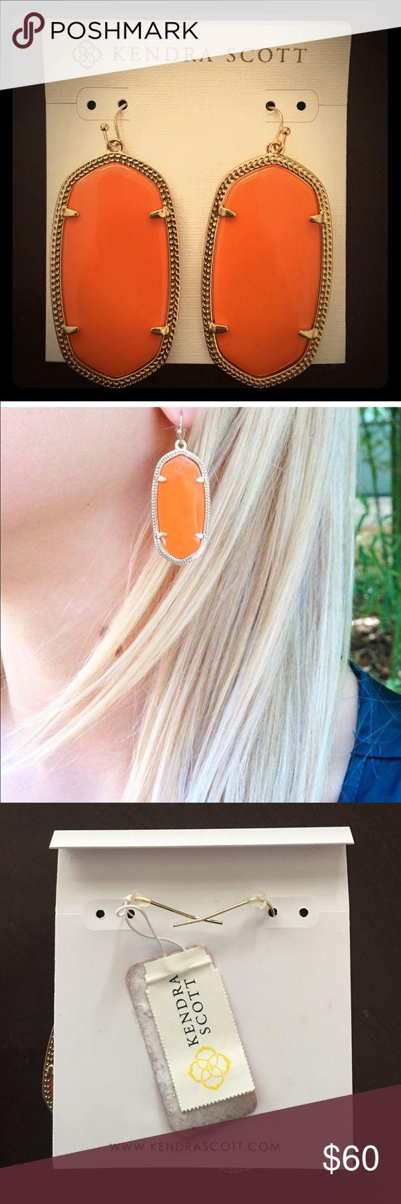 Authentic KS Danielle earrings Beautiful long authentic Kendra Scott orange Danielle earrings. Brand new. Kendra Scott Jewelry Earrings