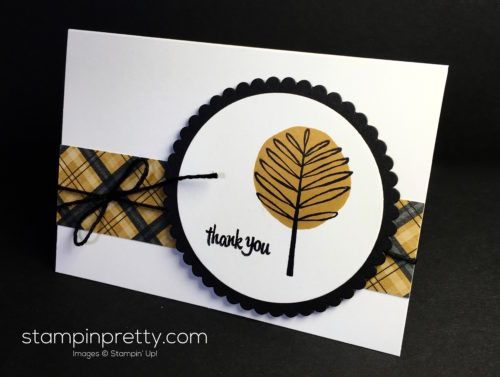 Totally Trees thank you card created by Mary Fish, Stampin' Up! Demonstrator.  1000+ StampinUp & SUO card ideas.  Read more http://stampinpretty.com/2016/09/super-quick-totally-trees-thank-card.html