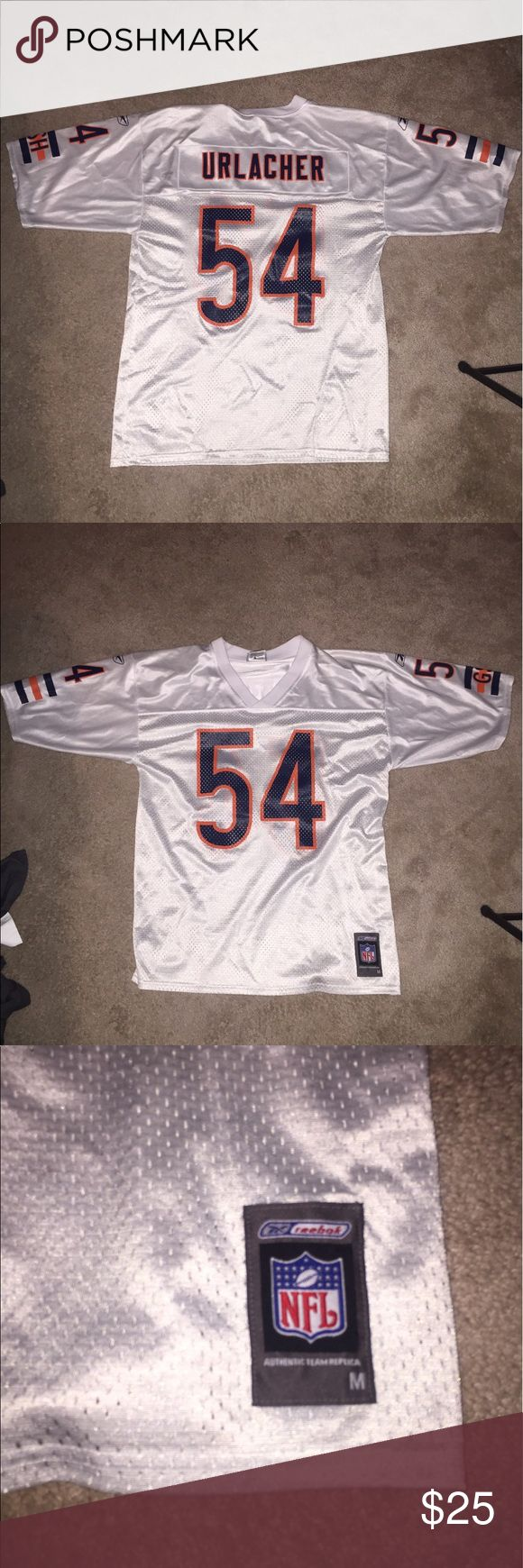 Chicago bears football jersey Dope Chicago bears football jersey in practically brand new condition! Has the player Brian urlacher on it! And size medium Reebok Shirts Tees - Short Sleeve
