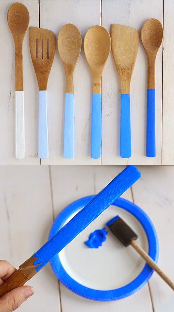 5 IDEAS para cambiar tus utensilios de madera de la cocina! | Decorar tu casa es facilisimo.com