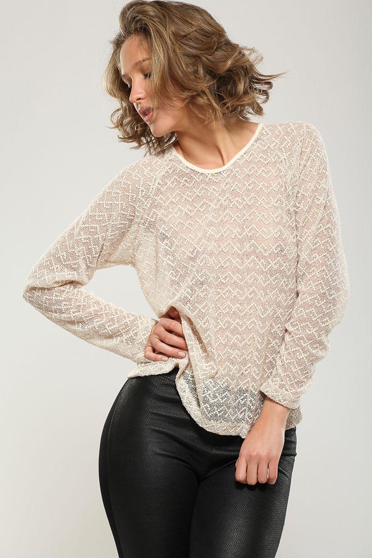 Sweater tejido calado by CAROLINA ESPERANZA
