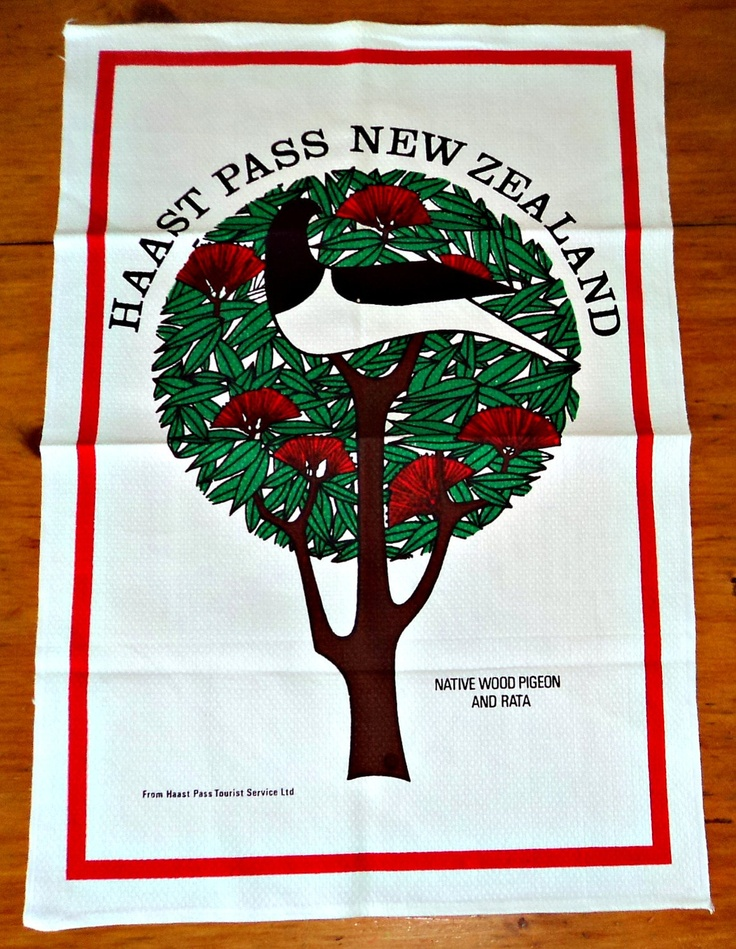 Tea Towel Souvenir Tea Towel Haast Pass New Zealand. $6.00, via Etsy.